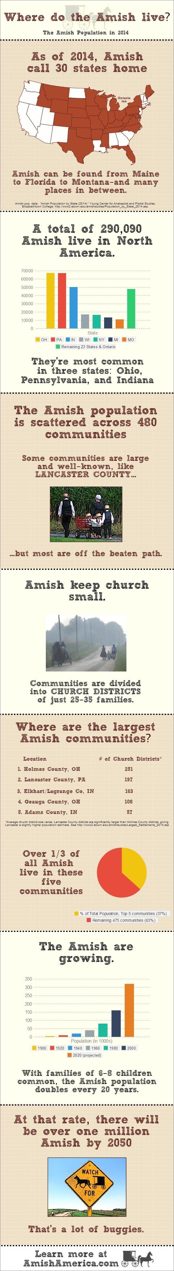 Amish Population 2014 Infographic