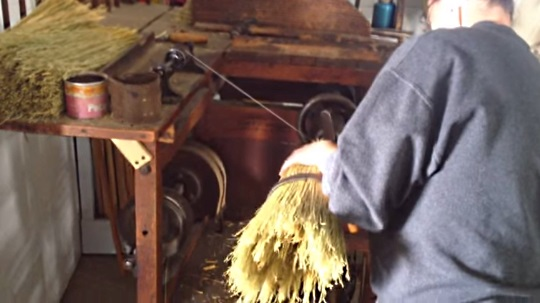 ada-amish-woman-broom-maker
