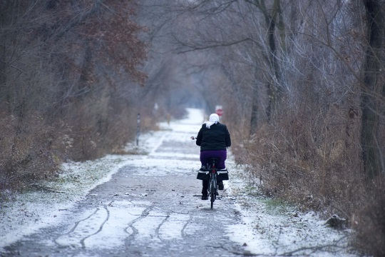 Amish Bicyclist Pumpkinvine Trail