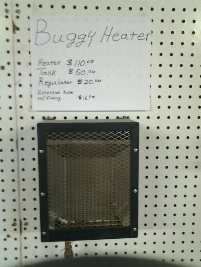 Amish Buggy Heater