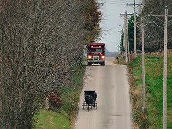 amish buggy road