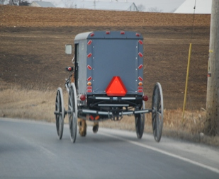 amish buggy safety curves