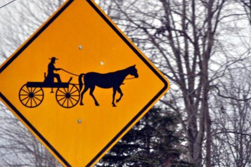amish buggy sign grabill indiana