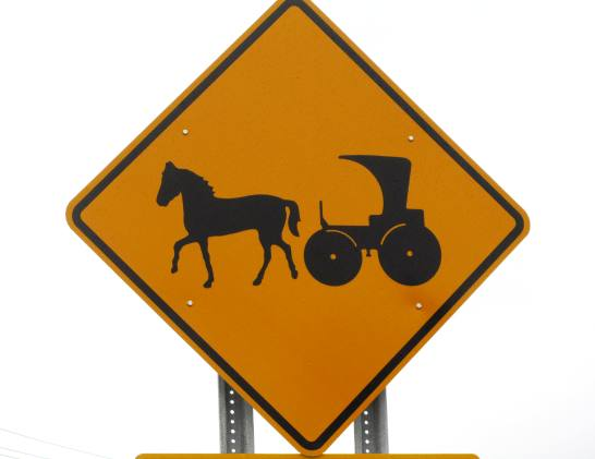 amish buggy sign new york