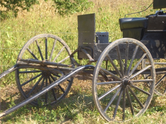 amish buggy wheel