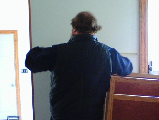 Amish Builder Measuring Wall