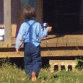 Amish Child Walking