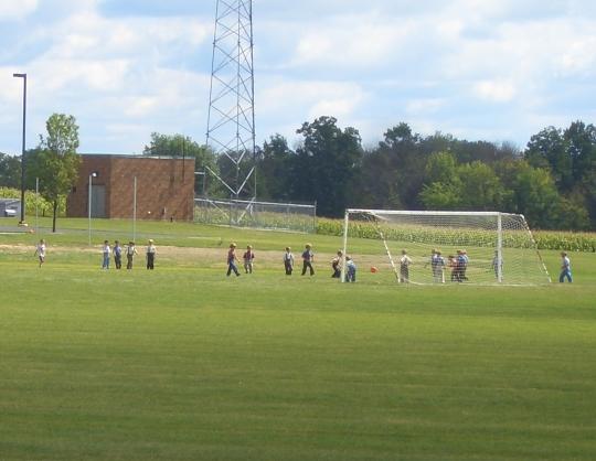 amish children soccer