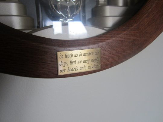 Amish Clock Inscription Psalm 90