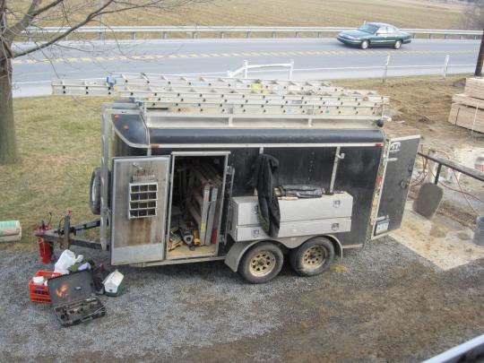 Amish Construction Trailer