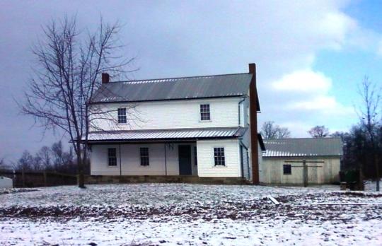 amish farmhouse winter