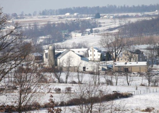 Amish Farms Ohio Winter View