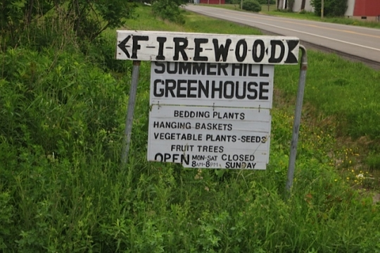 Amish Greenhouse Sign