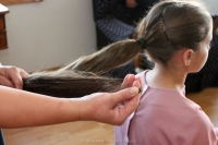 amish hair pinning