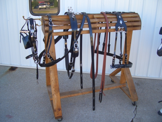 amish harness display