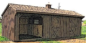 Amish Horse Barn