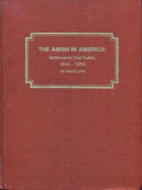Amish In America Settlements That Failed Luthy Cover