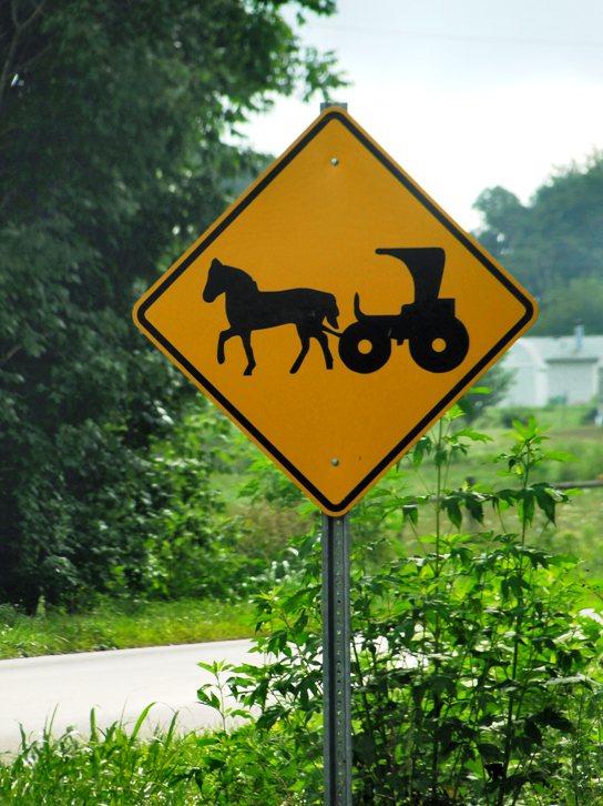 amish indiana buggy sign