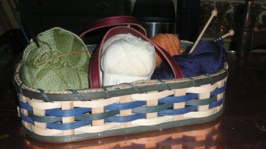 amish knitting basket