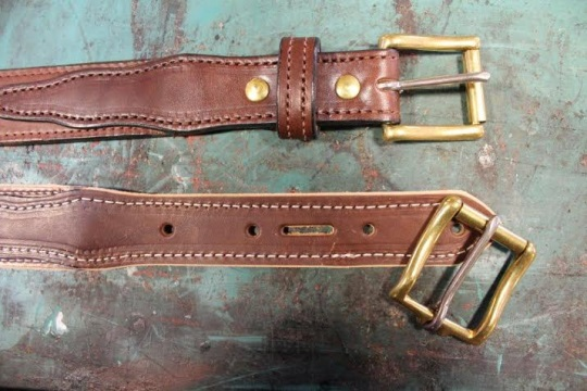 Amish Leather Belts Detail