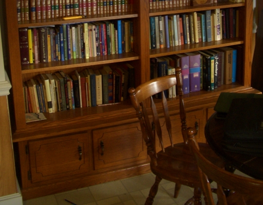 Inside an Amish home: Library and reading room