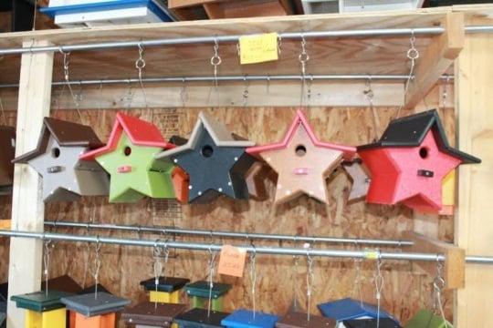 Amish Made Star Bird Houses