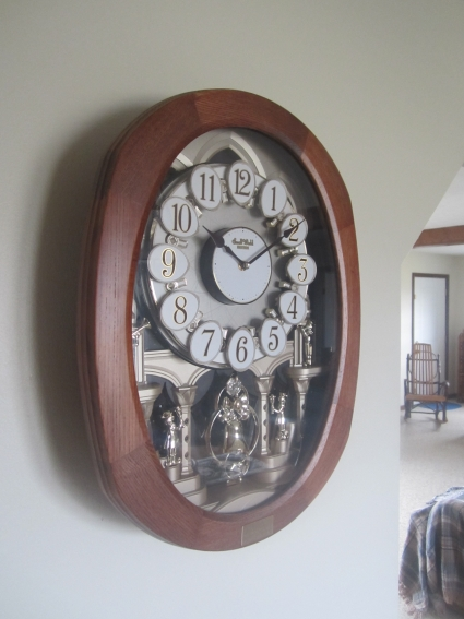 Inside an Amish Home: Musical Clock