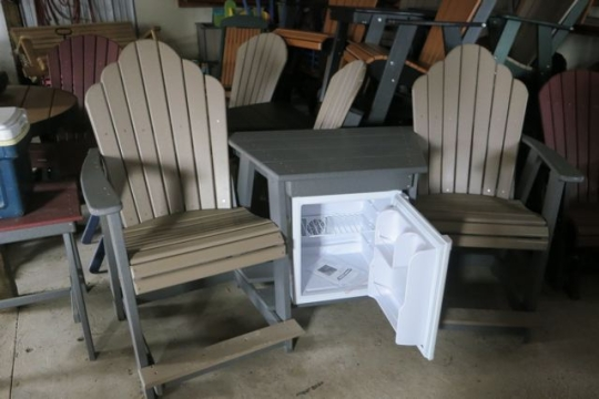 Amish Outdoor Chairs Cooler