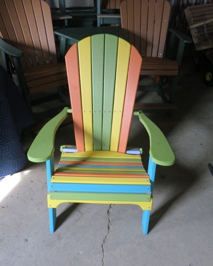 Amish Outdoor Rainbow Chair