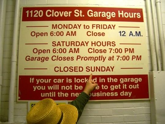 amish parking garage