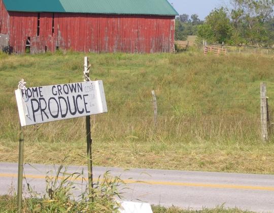 amish produce sign