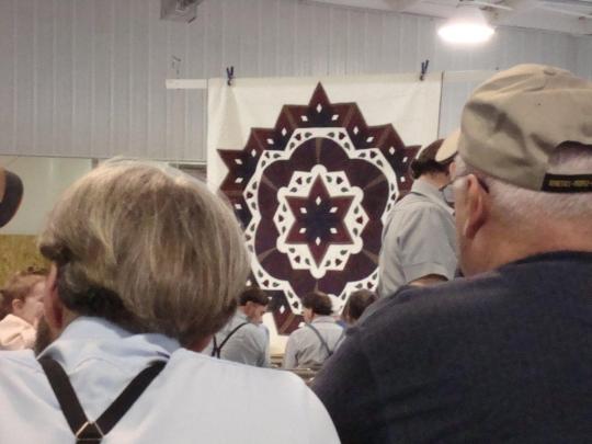 Amish Quilt Auction Bidders