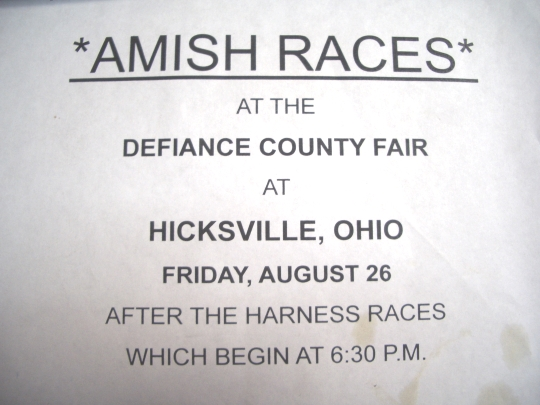 amish races hicksville ohio