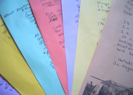 amish recipe sheets