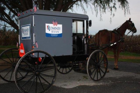 Will Amish vote in the 2012 election?