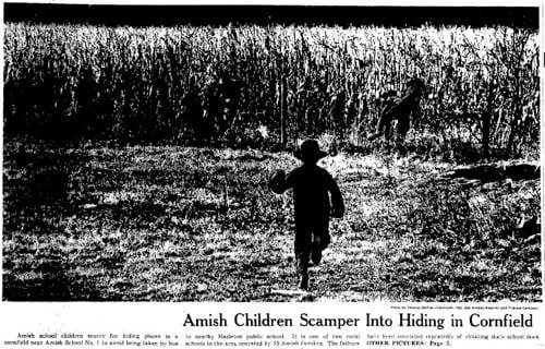 Wisconsin v. Yoder & The Fleeing Amish Children Photo