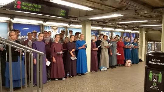 "Amish Sing ""I Am Free"" Underground In NYC (Video)"