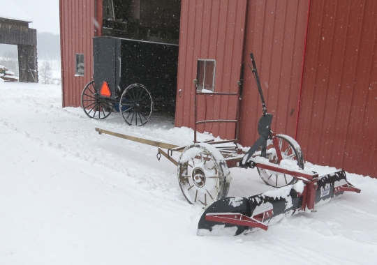 Amish Snow Plow