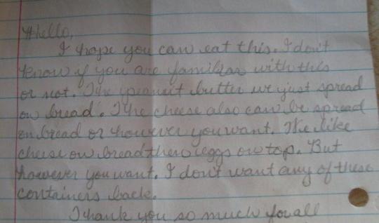 Amish Spread Note