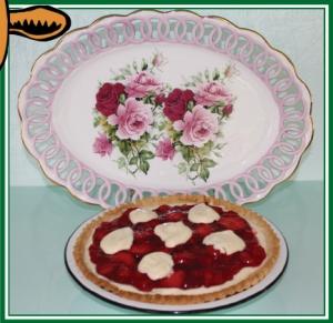 Amish Strawberry Cream Cheese Pie