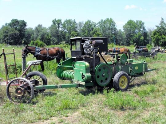 Amish Thresher