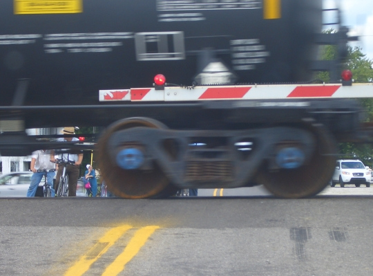 Amish Train Crossing Nappanee