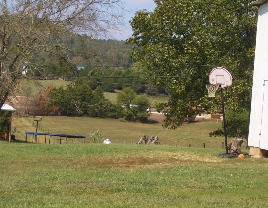 amish trampoline basketball hoop