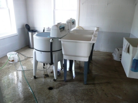 Inside an Amish home: Washing Machine and Basement