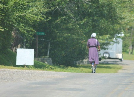 Amish Woman on Scooter