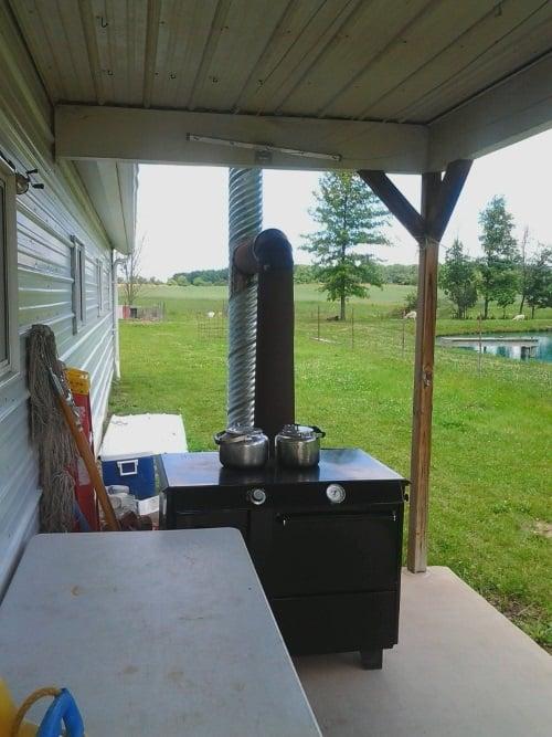 amish-wood-stove-outside