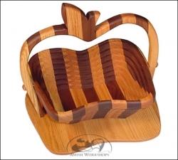 amish workshops collapsible apple basket