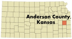 Anderson County Kansas Map