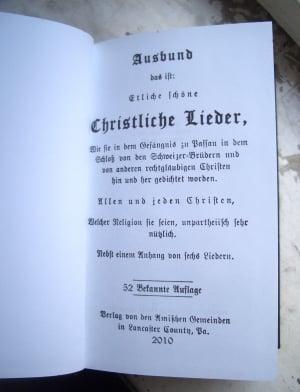 Ausbund Title Page