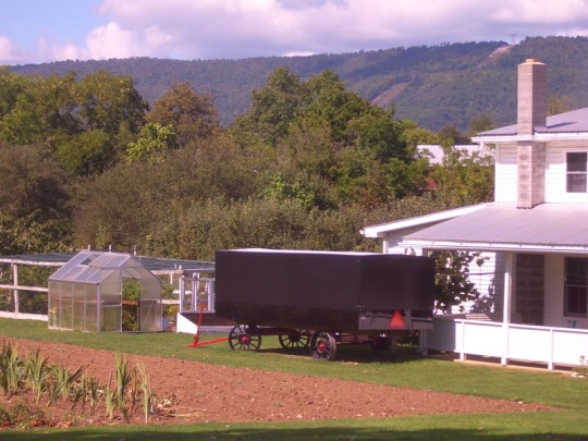 big valley amish church wagon